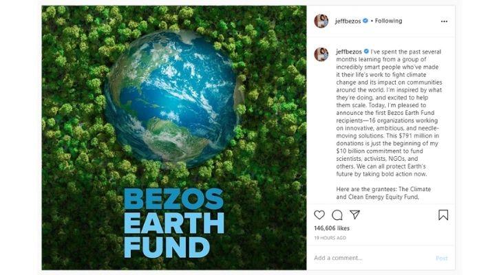 Jeff Bezos earth fund