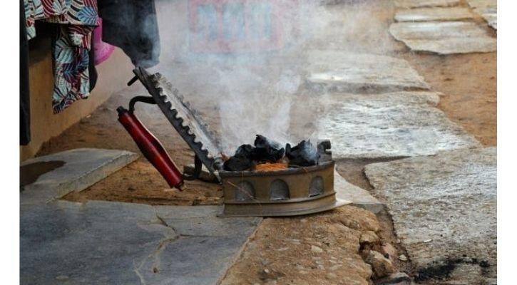 charcoal ironing solar ironing