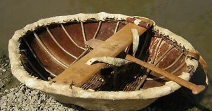, the group found a coracle and used it to go across the river.