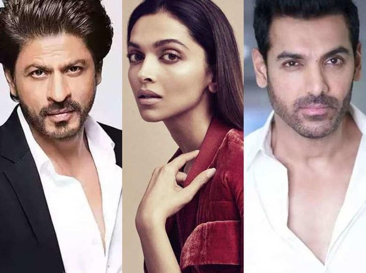 Shah Rukh Khan, Deepika Padukone and John Abraham / Indiatimes