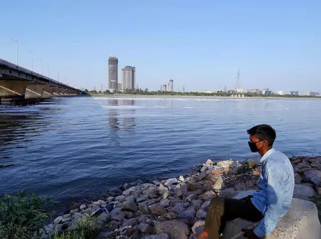 Yamuna before and after