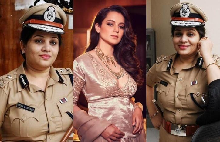 Kangana Ranaut and IPS officer D. Roopa Moudgil / Twitter