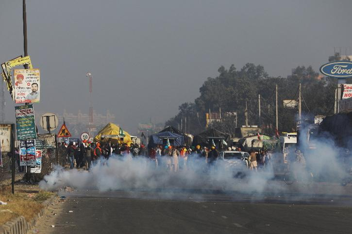 Delhi Farmers Protest, Farmers March, Haryana Police, Water Cannons, Tear Gas, Farmers Protest