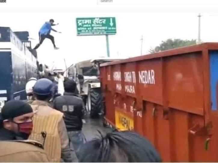 Farmers Protest, Farmers Protest Ambala, Farmers Protest Water Cannon, Navdeep Singh, Navdeep Singh Ambala