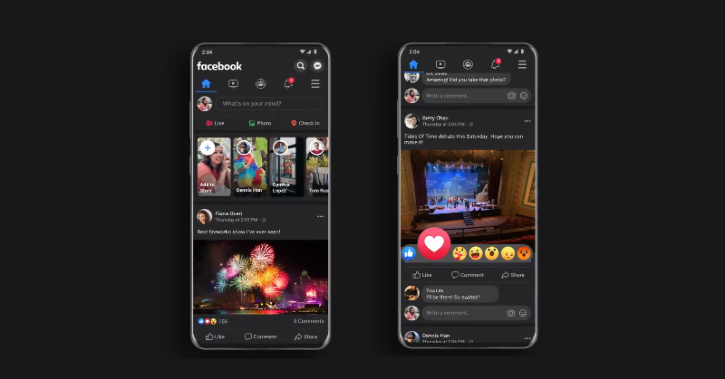 how to use facebook dark mode