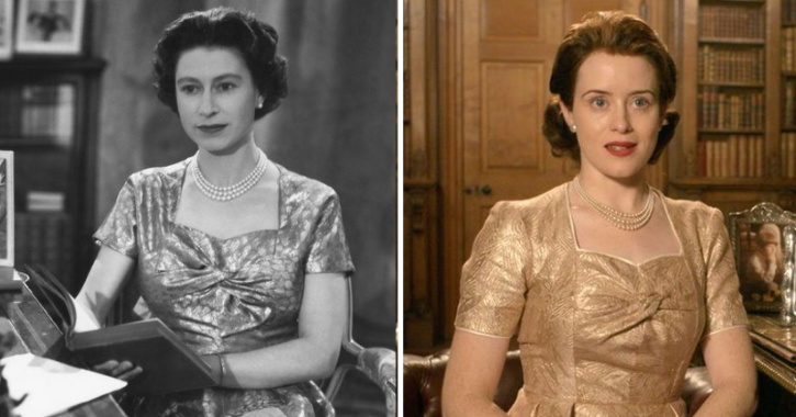 Claire Foy as a Queen Elizabeth II