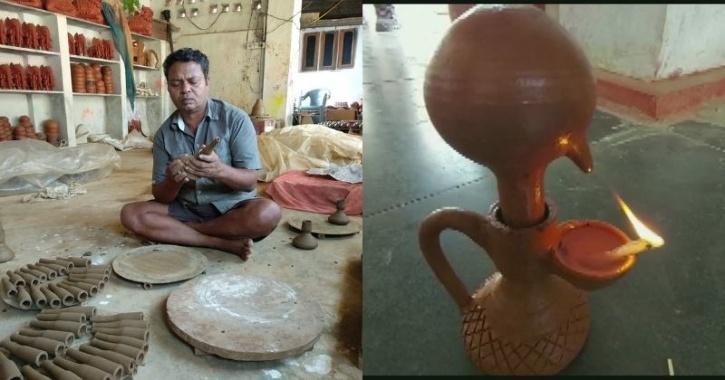 Chhattisgarh Potter Makes Diwali Lamps That Burn for 24 Hours, Gets 1000s of Orders