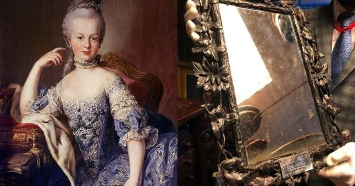 The antique mirror had been hanging in the family