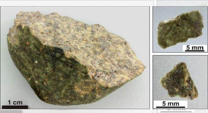 This meteorite is compositionally similar to rocks comprising the Earth's continents.