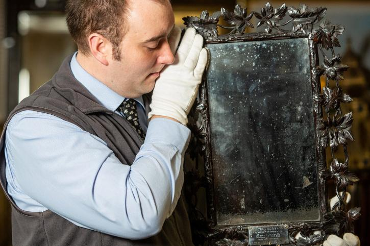 The owners had no idea the walnut-framed piece once reflected the last Queen of France,