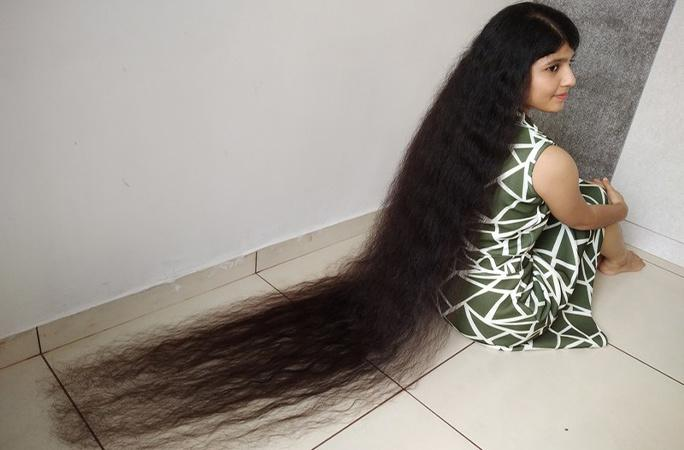 Nilanshi Patel, 18, has broken her own Guinness World Record for the longest hair on a teenager