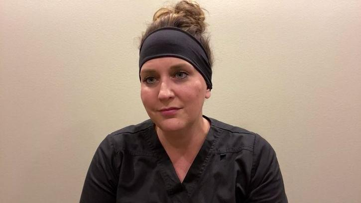 Nurse Jodi Doering tweeted about how nursing staff are often at the receiving end of hate from COVID-19 patients who don't believe in the virus.