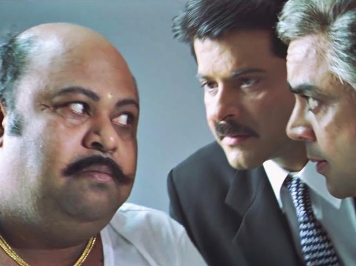 Saurabh Shukla as Pandurang in NayakThe Real Hero.