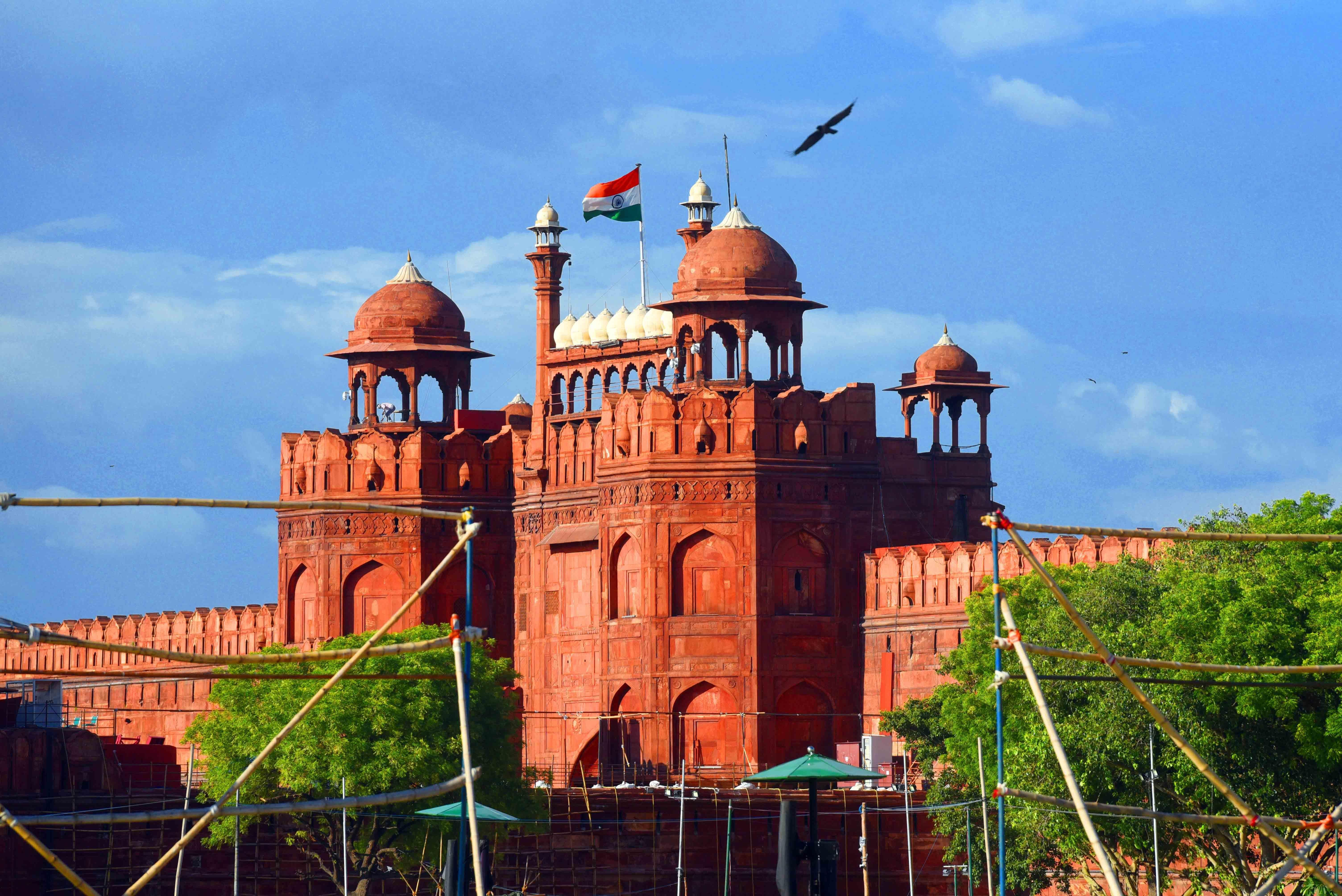 Red Fort Before & After