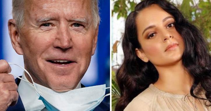 Joe Biden and Kangana Ranaut
