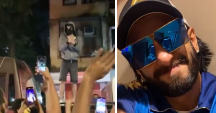 Ranveer Singh Trolled For Climbing Atop His Car And Entertaining A Crowd Of Fans Amid COVID-19