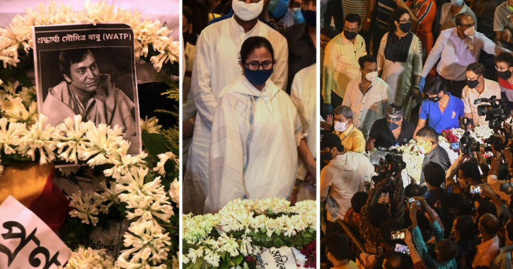 Soumitra Chatterjee Laid To Rest With Gun Salute As Mamata Banerjee & Celebs Pay Last Respect