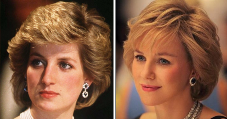 Naomi Watts as Princess Diana