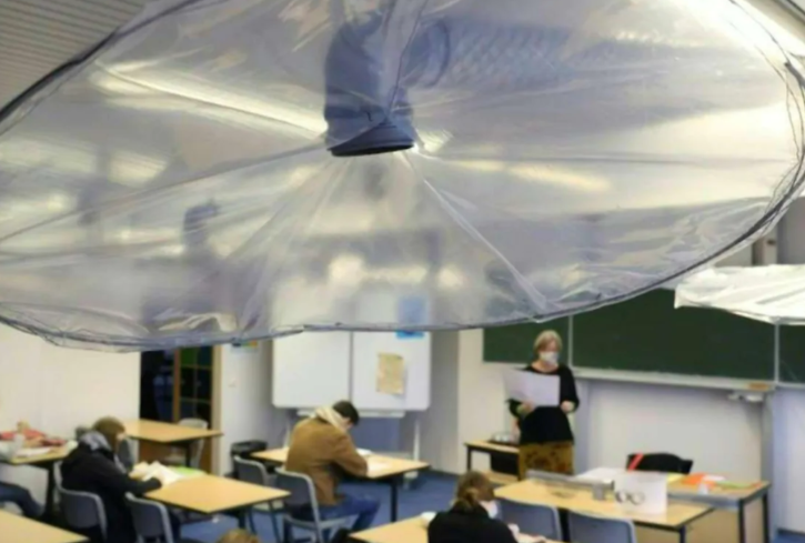 Portable air purifiers equipped with high-efficiency filters can be useful in schools