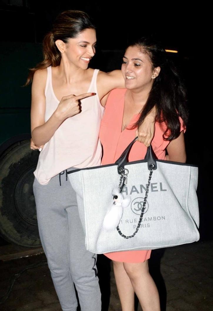 Deepika Padukone with her manager Karishma Prakash / Twitter