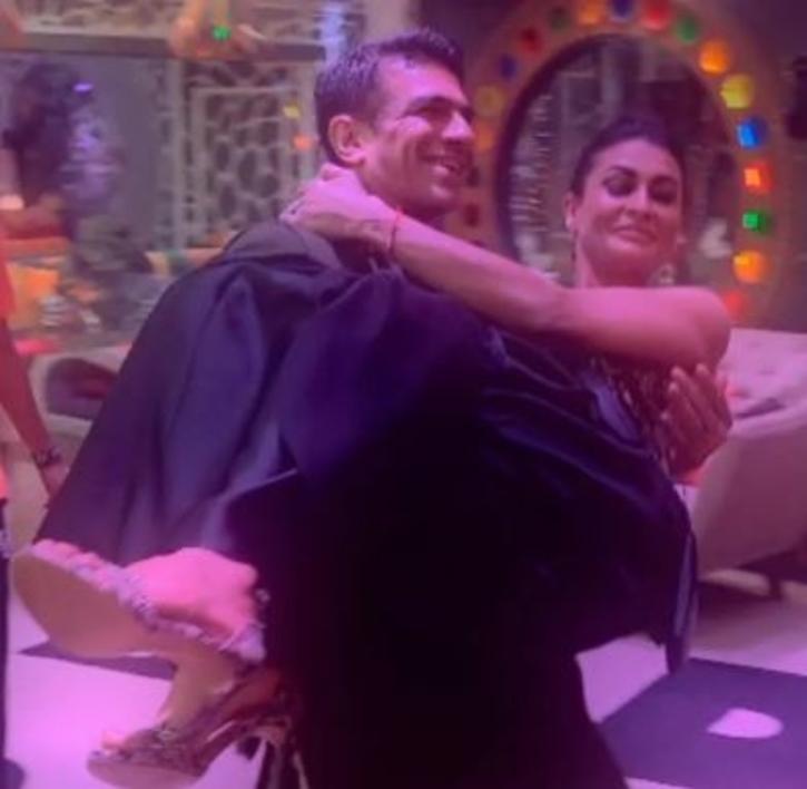 Eijaz Khan and Pavitra Punia in Bigg Boss season 14 / Voot