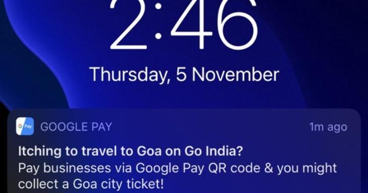 Google Pay app notification