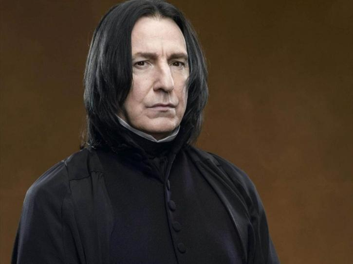 Alan Rickman known for playing Professor Severus Snape in Harry Potter series