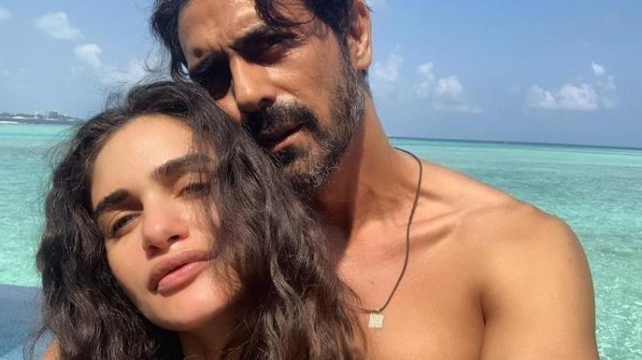 Arjun Rampal with Gabriella Demetriades / Instagram