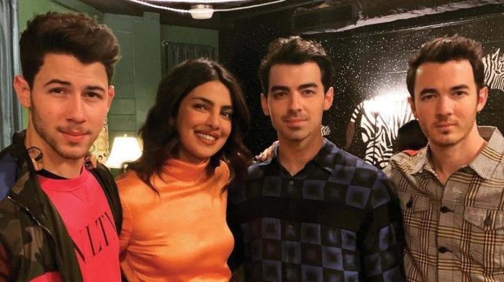 Priyanka Chopra with Nick Jonas, Joe Jonas and Kevin Jonas / Instagram