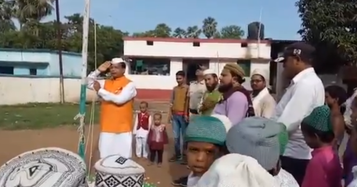 'Do you have any shame left, Nitish Kumar ji,' RJD asks posting video where Mewala Choudhary apparently fumbles while singing the National Anthem.