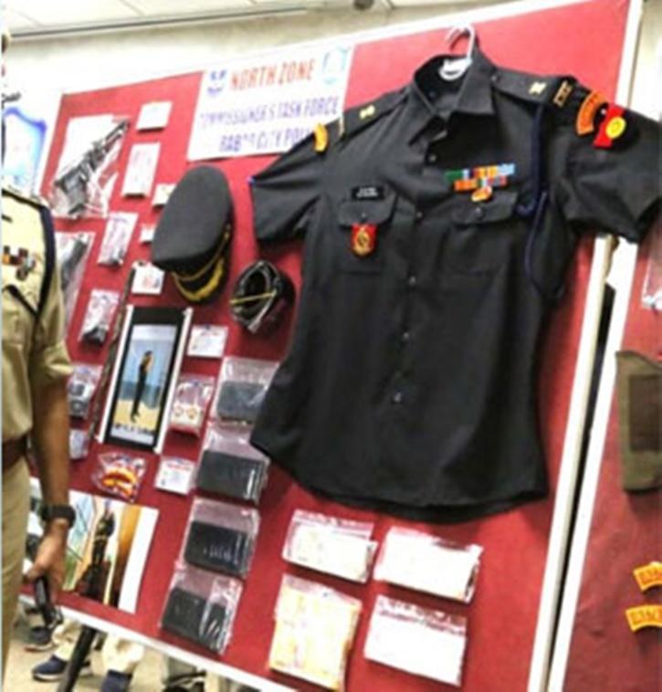 Mudavath Srinu Naik, Fake Army Major, M Srinivas Chowhan, Hyderabad Police