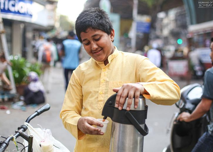 Subhan, sells tea in Nagpada, Bhendi Bazar, and other areas in Mumbai, to support his family.