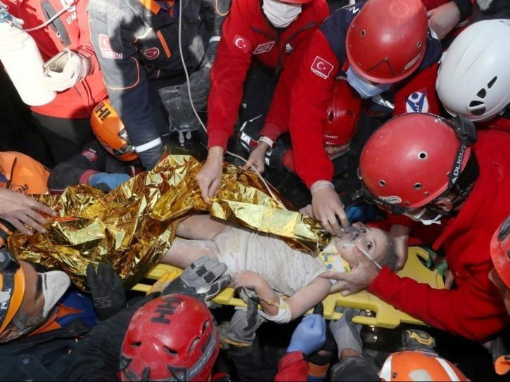 Baby rescued from Turkey earthquake rubble