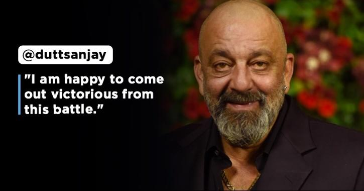 Sanjay Dutt Announces Victory Over Lung Cancer, Thanks Fans For Their Love And Blessings