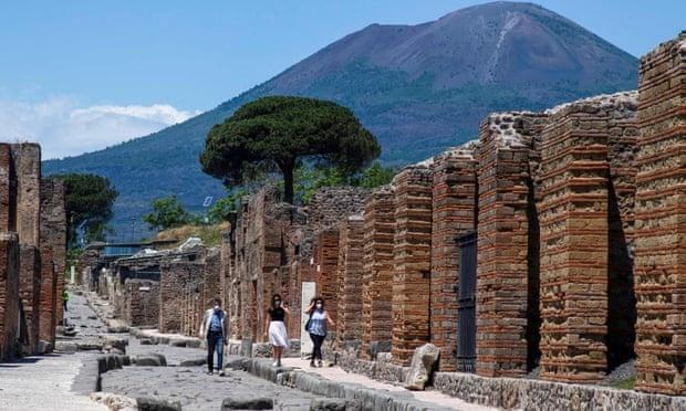 In 79AD after the eruption of Mount Vesuvius Pompeii was buried in volcanic ash