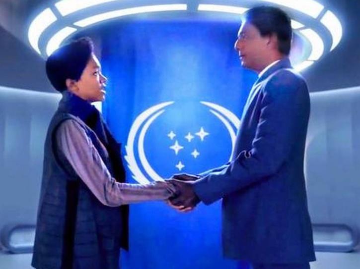 Adil Hussain in Star Trek: Discovery.