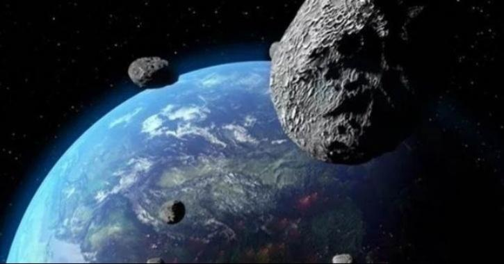 asteroids fly by