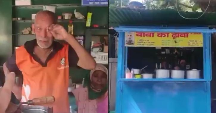 After his story and video went viral, Baba ka Dhaba was soon crowded