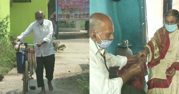 old man travels daily for his patients
