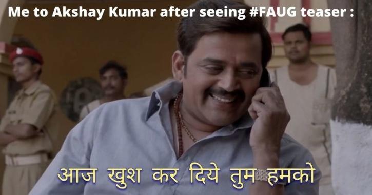 People share memes regarding Faug