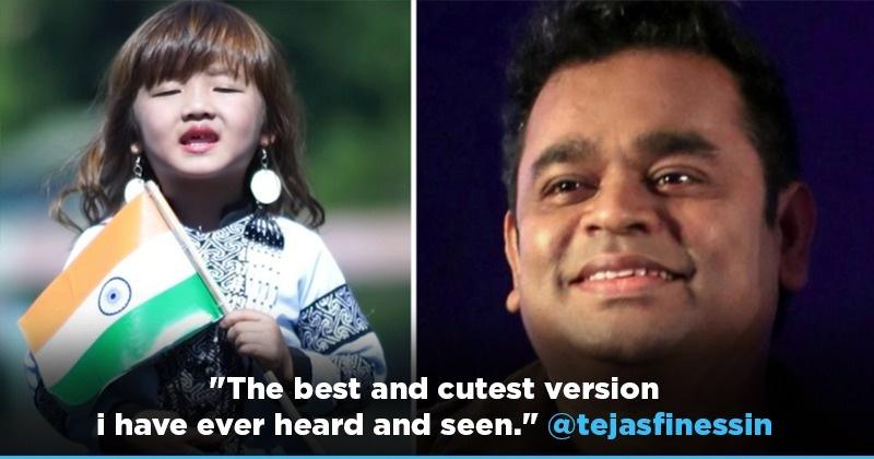 4-Year-Old Mizoram Girl Sings AR Rahman's 'Maa Tujhe Salaam', Fans Call It The 'Cutest Version'
