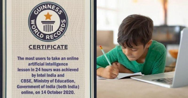 CBSE-Intel Set Guinness World Record, Teach AI To 13,000 Students In 24 Hours