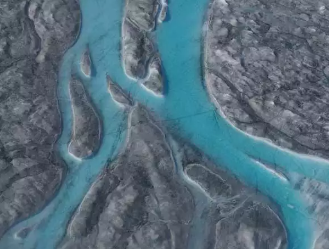 Ice melted during a heat wave in Greenland back in 2019