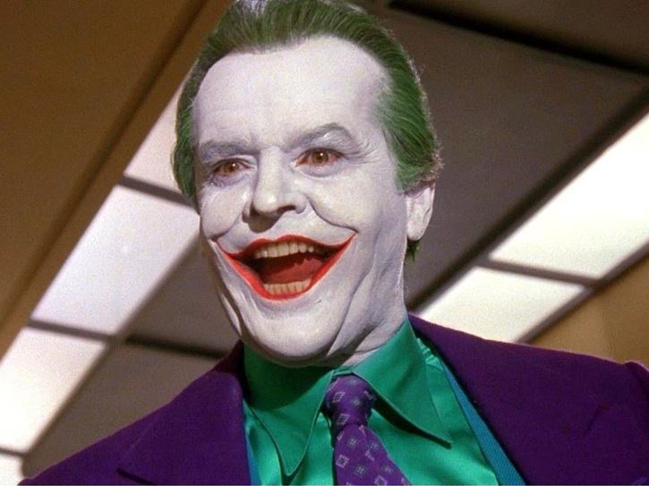 Jack Nicholson as Joker.