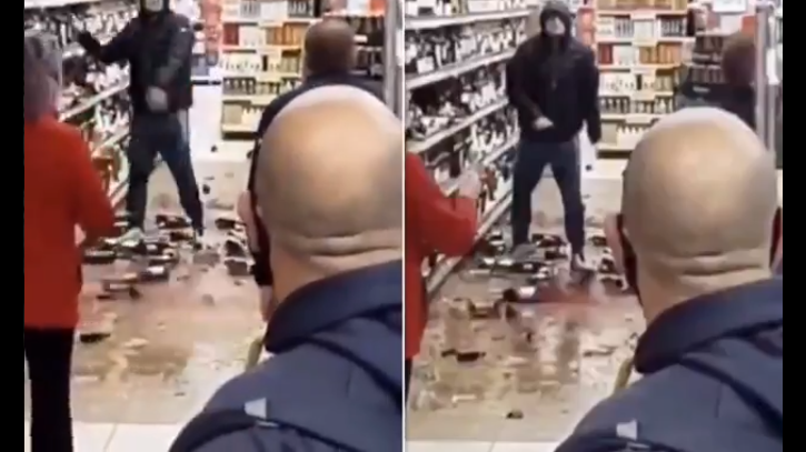 Man smashes countless bottles from Tesco booze aisle after being asked to wear a mask in the Drogheda