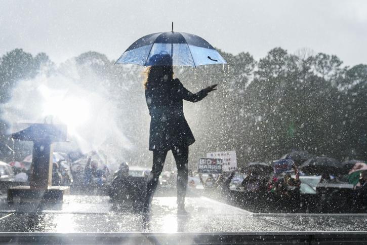 Kamala Harris Dancing In The Rain