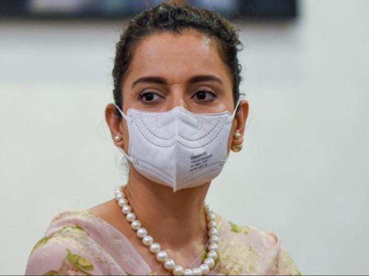 Kangana Ranaut wearing a mask.