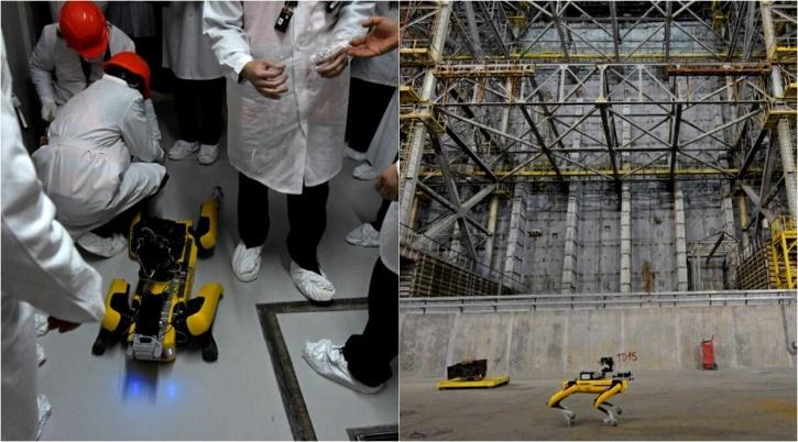 Spot the robot dog has been busy lurking around abandoned nuclear power plants lately.