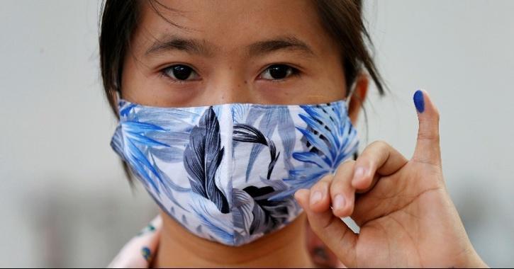 Influenza drop due to social distancing