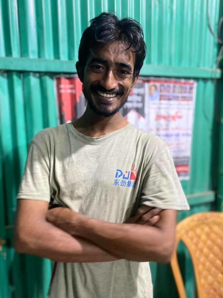 He took to Facebook to post a smiling picture of Rahman